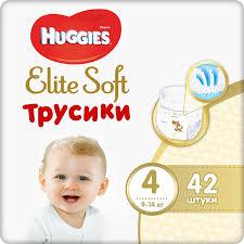 <b>Трусики Huggies Elite</b> Soft 4, 9-14 кг, 42 шт, артикул: 9402720 ...