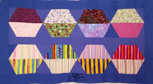 Hexagon Template set of Half Hexagons | Carols Quilts & Hexagon Template – Half ... Adamdwight.com