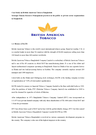 Case study on british american tobacco bangladesh by Md Papon - issuu