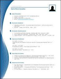 Curriculum Word Curriculum Vitae Word Para Completar Modelos De En Foto 8