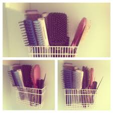 hair brush organizer. Fine Hair DIY Take A Utensils Dryer Cut The Hooks Off And Attach It To Wall I  Use For My Hair Brushes But Possibilities Are Endless Organization DIY In Hair Brush Organizer I