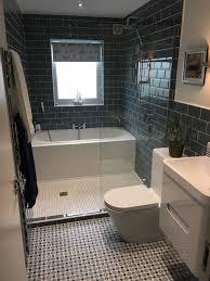 20+ Beautiful Small Bathroom Ideas   Wall hung vanity, Metro tiles ...