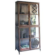 industrial china cabinet looking cabinets modern glass door storage bookcase