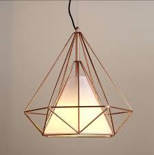 cage pendant light marvelous copper diamond wire lighting ikea cage pendant light