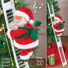 New <b>Christmas Santa</b> Claus <b>Climbing Stairs Electric</b> Music Toy ...