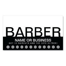 loyalty card template easy business card template bold barber customer loyalty card