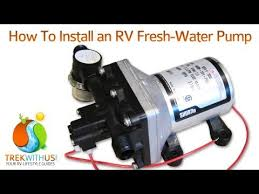 how to install a shurflo fresh water pump rv diy