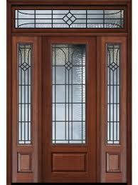 96 1 panel 3 4 lite cantania cherry walnut door 2side w