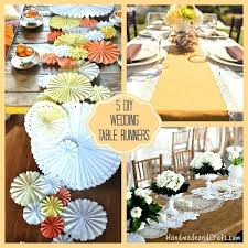 diy table runner diy table runners wedding for round tables