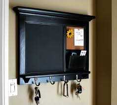 interior gorgeous frame of chalkboard key holder design which is painted in cool black combined