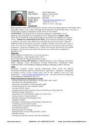 Curriculum Vitae Introduction Example Resume Ixiplay Free Resume