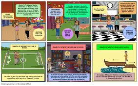 Laws Of Motion Examples Newtons Laws Of Motion Storyboard By Amorton2005