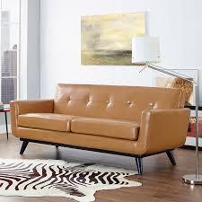 modern loveseats  empire tan leather loveseat  eurway