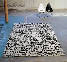 mtrit modern black white area rug by nani marquina
