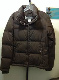 columbia sports wear size small brown down puffer