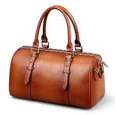 rockcow full grain leather las women genuine leather handbag shoulder bag high quality designer luxury boston cross bag handbags whole purses for