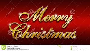 Merry Christmas Gold Glossy Logo Stock Illustration