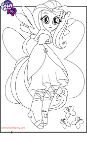 Small Picture Equestria Girls Fluttershy Coloring Page My Little Pony Coloring