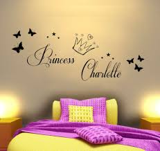 Princess Wallpaper For Bedroom Bedroom Lovable Princess Charlotte Sticker Wall Decal With