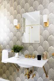 Bathroom Magnificent Wallpaper For Bathroom Modern Powder Room Wallpaper  For Bathroom