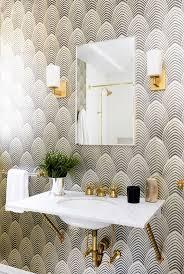 Bathroom Magnificent Wallpaper For Bathroom Modern Powder Room Wallpaper  For Bathroom