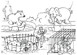 Zoo Animals Coloring Pages Pdf Worksheet Worksheets Awesome