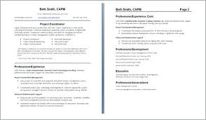 Examples Of Two Page Resumes Two Page Resume Sample How To Format A ...