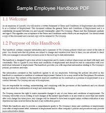 Free Employees Handbook Pin By Drive On Template Pinterest Employee Handbook Sample