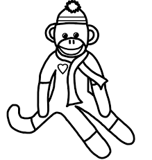 Sock Monkey Coloring Pages 9viq Wonderful Sock Monkey Coloring Pages