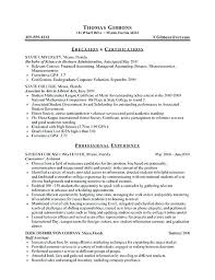 Student Internship Resume Sample Internship Resume For College