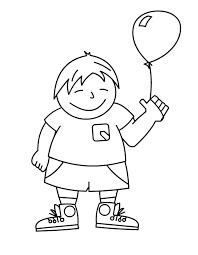 Jongen Met Ballon Kleuren Is Leuk