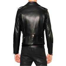 stunning men leather motorcycle jacket