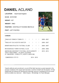 4 Football Cv Example Care Giver Resume