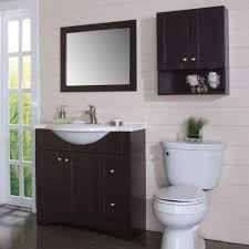 Over the john cabinet Storage Cabinets Over The Toilet Bathroom Storage Wall Cabinet In Espresso Home Depot Glacier Bay Del Mar 21 In 26 In In Over The Toilet