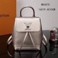 lv louis vuitton m54575 lockme backpack mini real leather gold bag top replica