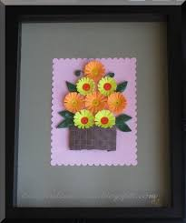 Paper Quilling Flower Bokeh Flower Bouquet With Paper Quilling Daisies In A Bouquet V