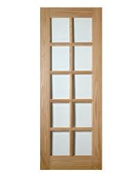 bristol 10 light glazed door uk oak doors