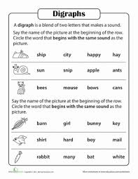 Use our phonics phases sound mats to see what sounds your child will be taught when in their phonics learning journey. Phonics Practice Test Blends And Digraphs Worksheet Education Com