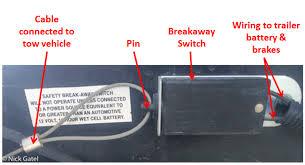 how to test a trailer breakaway switch Electric Trailer Breakaway Wiring Diagram Electric Trailer Brake Wiring