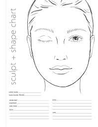 Face Shape Chart Book Info Makeup Shape Sculpt Charts Colorista Books