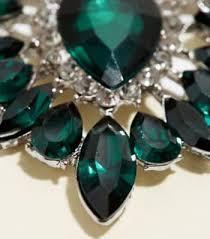 dark green oval gem chandelier earrings new look