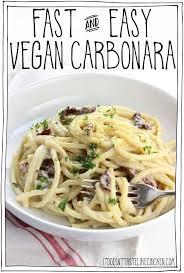 fast and easy vegan carbonara it
