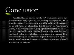 racial profiling u s airport security emily badger 11 conclusion racial profiling