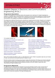 Masters Degree In Electronic And Communications Engineering M