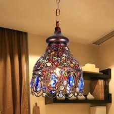 small colored chandeliers pair of small empire style chandeliers with six lights and colored glass for