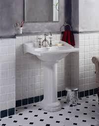 Traditional White Bathrooms Classic Black And White Bathroom Floor Tile Mesmerizing Light