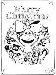 Sesamstraat Vrolijk Kerstfeest Sesamstraat Kleurplaat