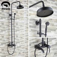 luxury oil rubbed bronze bathroom 8 rain shower faucet set wall mounted tub shower