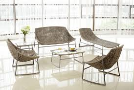 source outdoor furniture. Charming Curved Modern Wicker Patio Furniture With Glass Coffee Table Top: Best All Weather Source Outdoor N
