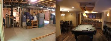 Best Unfinished Basement Before And After Before And After - Ununfinished basement before and after
